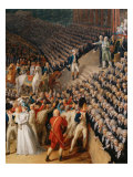 The festival at Champ de Mars July 14, 1790: right-side Giclee Print by Charles Thevenin