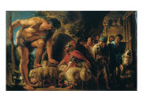 Ulysses in the Cave of Polyphemus Giclee Print by Jacob Jordaens