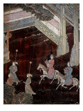 Screen Called 'Coromandel' with Scenes from the Life in the Forbidden Town of Peking: Procession Giclee Print