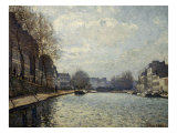 View of the Saint-Martin Canal Giclee Print by Alfred Sisley