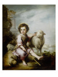 The Good Shepherd Giclee Print by Bartolome Esteban Murillo