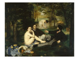 Le Dejeuner sur l&#39;herbe (Luncheon on the Grass), 1863 Giclee Print by &#201;douard Manet
