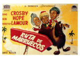 Road to Morocco, Spanish Movie Poster, 1942 Premium Giclee Print