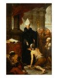 Saint Thomas of Villanueva Distributing Alms Giclee Print by Bartolome Esteban Murillo