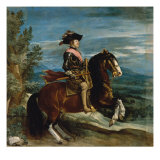 Equestrian Portrait of Philip IV Giclee Print by Diego Velázquez