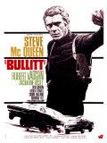Filmposter Bullitt met Steve Mc Queen, 1968, Franse tekst Premium gicléedruk