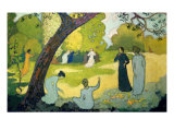 Panels for a Girl's Bedroom: July Reproduction procédé giclée par Maurice Denis