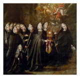 Procession of Saint Clare Gicl&#233;e-Druck von Juan de Valdes Leal