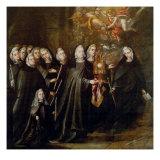 Procession of Saint Clare Giclée-Druck von Juan de Valdes Leal