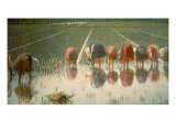 The Rice Weeders (For Eighty Cents) Giclee Print by Angelo Morbelli