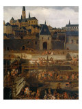 View of the city of Blois, detail Giclee Print by Jean Baptiste Martin