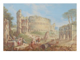 Ruins with the Colosseum Giclee Print by Vanvitelli (Gaspar van Wittel)
