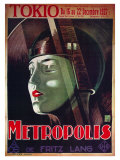 Metropolis, filmový plakát ve francouzštině, 1926 Reprodukce