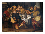 Banquet with Friends Giclee Print by Frans Pourbus II