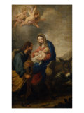 Rest on the Flight into Egypt Giclee Print by Bartolome Esteban Murillo