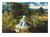 Rest on the Flight into Egypt Giclee Print by Joachim Patenier