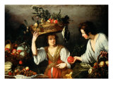 The Fruit Seller Giclee Print by Bernardo Strozzi