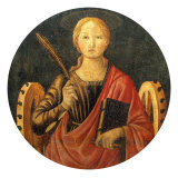 Altar Frontal with Saint Catherine of Alexandria Giclee Print by Bernardo di Stefano Rosselli