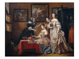 Ladies and maids Gicl&#233;e-Druck von Lancelot Volders