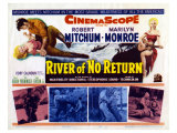 River of No Return, UK Movie Poster, 1954 Reproduction procédé giclée