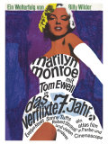 The Seven Year Itch, German Movie Poster, 1955 Prints