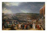 The Festival at Champ de Mars July 14, 1790 Giclee Print by Charles Thevenin