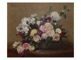 Vase with Roses Giclée-Druck von Henri Fantin-Latour