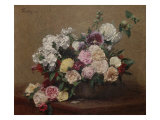 Vase with Roses Giclee Print by Henri Fantin-Latour