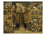 The Gallery of Archduke Leopold Wilhelm Giclee Print by David Teniers the Younger