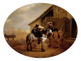 The Departure from the Tavern Giclee Print by Pieter Jacobsz van Laer