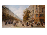 Queue in Front of Grocer's, November 1870 Giclee Print by Jules Didier
