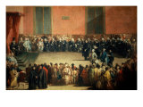 Session of a Council (Consilium in arena) Giclee Print by Giandomenico Tiepolo