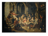 Allegory of Five Senses or Tavern Scene Giclée-Druck von Willem Van Herp