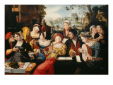 Gallant Scene or The Five Senses Giclee Print