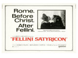 Fellini Satyricon, UK Movie Poster, 1969 Premium Giclee Print