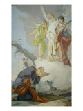 Appearance of the Three Angels to Abraham Lámina giclée por Giambattista Tiepolo