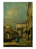 Venetian Courtyard Giclee Print by Francesco Guardi