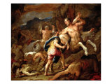 Battle between Lapithae and Centaurs Giclee Print by Luca Giordano