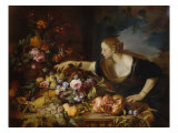 Woman with Fruits Giclee Print by Jan Brueghel the Elder