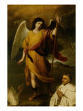 The Archangel Raphael with Bishop Domonte Giclee Print by Bartolome Esteban Murillo