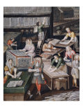 Factory of Playing Cards - detail, c. 1680 Giclee Print