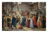 Provenzano Salvani Begging in Piazza del Campo Giclee Print by Amos Cassioli