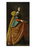 Saint Casilda or Saint Isabel of Portugal Giclee Print by Francisco de Zurbarán