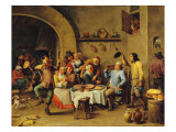 Le Roi Boit (The King Drinks) Giclee Print by David Teniers the Younger