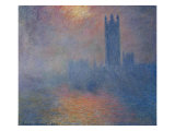 The Houses of Parliament in London Giclee Print by Claude Monet