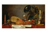 The Attributes of Music Giclee Print by Jean-Baptiste Simeon Chardin