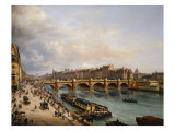 The Pont Neuf 1832 Giclee Print by Giuseppe Canella