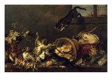 Cats in a Larder Giclée-Druck von Paul De Vos