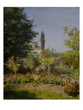 Garden in Flower Giclee Print by Claude Monet