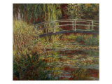 Water-Lily Pool, Harmony in Pink Giclee Print by Claude Monet